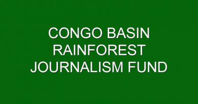 Congo Basin Rainforest Journalism Fund